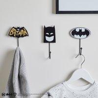 Batman Pack of 3 Wall Hooks Black and white