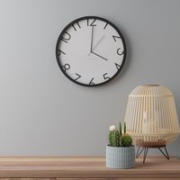 image-Contemporary Numbers 38.5cm Wall Clock Black Black