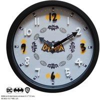 Batman Tell the Time Clock Black and white
