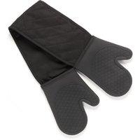 Black Silicone Double Oven Glove Black