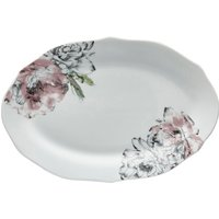 Heavenly Hummingbird Blush Serving Platter Blush, Green and White