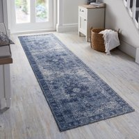 Mila Traditional Runner Blue and Grey