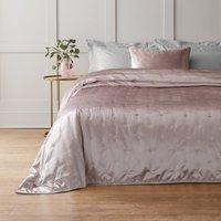 image-Sheen Pink Velvet Bedspread Blush