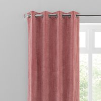 Margot Velvet-Look Rose Eyelet Curtains Pink