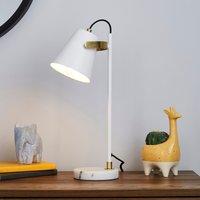 image-Karter Marble Base Table Lamp White