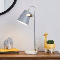 image-Karter Marble Base Table Lamp Grey