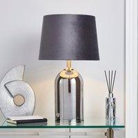 image-Lenny Smoked Glass Table Lamp Smoke