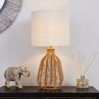 image-Kylo Woven String Table Lamp Beige