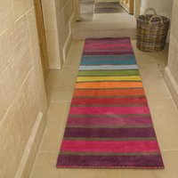 Candy Wool Runner Pink, Yellow, Green, Blue and Purple