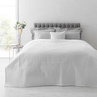 White Gridstitch Bedspread White