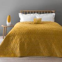 image-Stem Velvet Ochre Bedspread Yellow