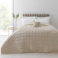 image-Velvet Square Champagne Bedspread Gold