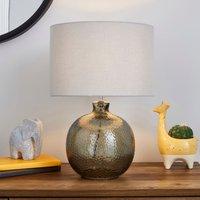 image-Georgia Mottled Glass Table Lamp Grey