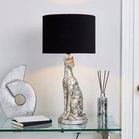 image-Leon Leopard Table Lamp Silver