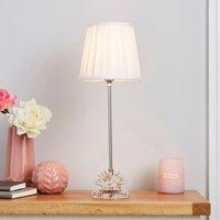 image-Dorma Cassali Lotus Flower Table Lamp White