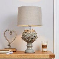 image-Dorma Artichoke Table Lamp Grey Grey
