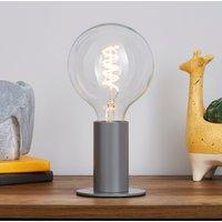 image-Eban Grey Table Lamp Grey