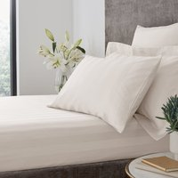 Hotel Egyptian Cotton 230 Thread Count Stripe Fitted Sheet Cream