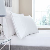 Dorma Egyptian Cotton 400 Thread Count Percale Fitted Sheet White