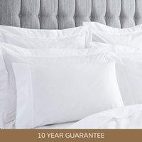 Dorma Egyptian Cotton 400 Thread Count Percale Housewife Pillowcase White