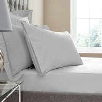 Dorma Egyptian Cotton 400 Thread Count Percale Fitted Sheet Silver