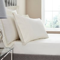 Dorma Egyptian Cotton 400 Thread Count Percale Fitted Sheet Cream