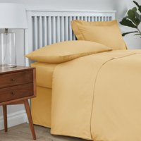 Easycare Cotton 180 Thread Count Flat Sheet Yellow