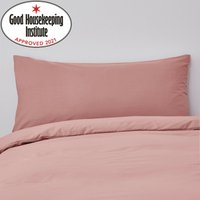 Non Iron Plain Dye Blush Bolster Pillowcase Blush