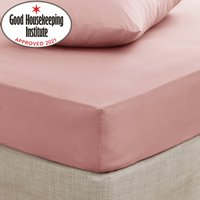 Non Iron Plain Fitted Sheet Pink