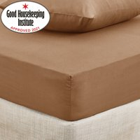 Non Iron Plain Fitted Sheet Brown