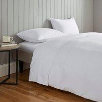 Soft and Cosy Luxury Brushed Cotton Flat Sheet White