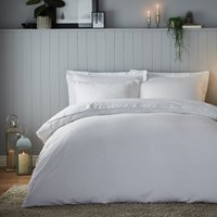 Soft & Cosy Luxury Brushed Cotton White Duvet Cover and Pillowcase Set White