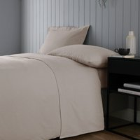Soft and Cosy Luxury Brushed Cotton Flat Sheet Beige