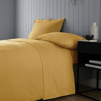 Soft and Cosy Brushed Cotton White Flat Sheet Yellow