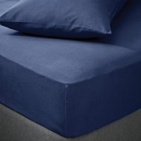Soft and Cosy Luxury Brushed Cotton Fitted Sheet Navy