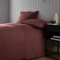 Soft and Cosy Brushed Cotton White Flat Sheet Red