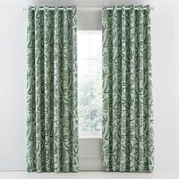 Clarissa Hulse Costa Rica Fern Lined Eyelet Curtains Green and White