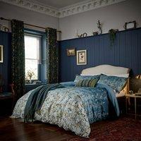 Clarissa Hulse Goosegrass Blue 100% Cotton Duvet Cover and Pillowcase Set Blue