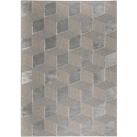 Sienna Silver Wool Rug Silver and Brown