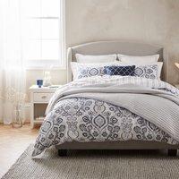 Dorma Harlyn Organic Cotton Bedspread Grey