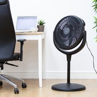 High Velocity Power Stand and Floor Fan Black