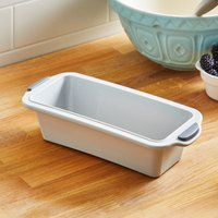Dunelm Framed Silicone Loaf Tin Grey