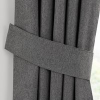 Luna Charcoal Pencil Pleat Tie Back Charcoal