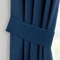 Luna Navy Pencil Pleat Tie Back Navy Blue