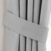 Luna Grey Pencil Pleat Tie Back Grey