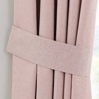 Luna Blush Pencil Pleat Tie Back Blush
