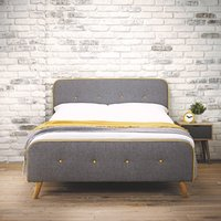 Loft Linen Bed Frame Grey
