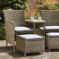 Wentwoth 2 Seater Bistro Set Brown