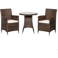 Cannes Mocha 2 Seat Bistro Set Brown