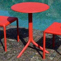 image-Red Garden Table Red